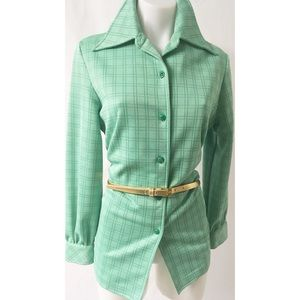 Green Vintage Top Size 12